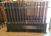 Aluminum Fence Panels Puppy Picket Style 48 In Tall 6 Ft Wide Bronze Panels