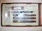 Rotring Isograph Rapidograph Set 3 - 0.35 ,0.50 ,1.4 + 0.5 / Tikky 0.5. Germany