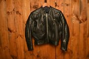 Lewis Leathers Aviakit 70andrsquos Vintage Cafe Racer Motorcycle Leather Jacket 42-l