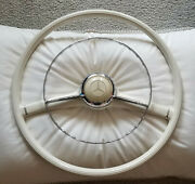 Mercedes 190sl Steering Wheel Chrome Ring And Center Button