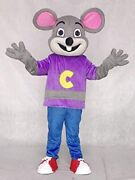 Cheese Mouse Mascot Costume Halloween School Party Dress Up Free Shipping