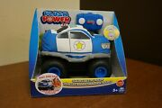 Plush Squeezable Rc Racer Police Truck Soft Body Tires Power Remote Control 2c