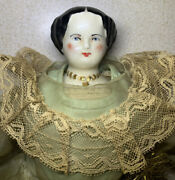 Vintage China Doll With Ceramic Head, Legs, Boots And Arms 13