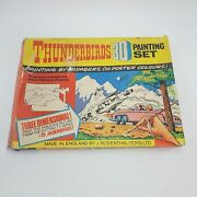 Vintage 1960and039s Thunderbirds 3d Painting Set By J Rosenthal Jr21 Toys 1964 Poor