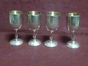 Baldwin And Miller Sterling Set 4 Cordials Goblets 3 X 1 122g No Mono