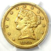 1860-d Liberty Gold Half Eagle 5 - Certified Pcgs Xf Details - Dahlonega Coin