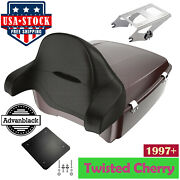 Twisted Cherry King Tour Pak Pack For Harley Street Road Electra Glide 97+