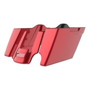 2-1 Wicked Red Stretch Extend Saddlebags For 2014+ Harley Road Street Touring