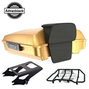 Black Hills Gold Forest Razor Tour Pack Trunk Luggage For 1997-2020 Harley