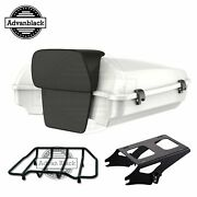 Stone Washed White Pearl Razor Tour Pack Trunk Luggage For Harley Touring 97-20