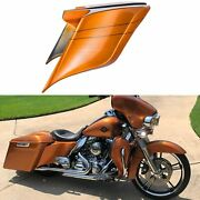 Amber Whiskey Stretched Extended Side Cover Pinstripe For 2014+ Harley