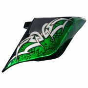 Vivid Black Airbrush Stretched Extended Side Cover For 14+ Harley Street Road V1