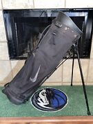 Nike Stand Sunday Hybrid Golf Bag 4 Divider 2 Strap Extremely Durable