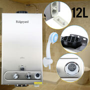 12l Hot Water Heater Propane Gas Lpg Tankless 3.2gpm Instant Boiler Outdoor