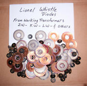 10 Lionel Whistle Diodes Zw - Vw - Kw - Lw - From Working Lionel Transformers