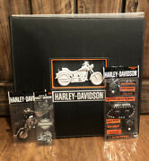 Harley Davidson Scrapbook With 3 Packs Of Scrap Book Stickers New Very Nice