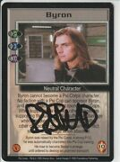 Babylon 5 Byron Signed By Robin Atkin Downes [psi Corps] [lightly Played] Fro