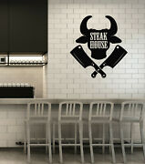 Vinyl Wall Decal Steak House Bbq Barbecue Grill Restaurant Stickers Ig5878
