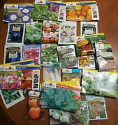 Lot Of Flower And Vegatable Seeds. 100 Packs. 400 Value. Burpee Seeds Of Change