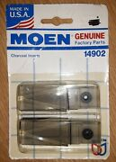 Genuine Moen Faucet Pair Wing Handle Inserts Replacement Charcoal 14902 Made Usa