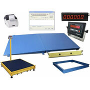 Op-916 48 X 48 4and039 X 4and039 Industrial Digital Floor Scale 20.000 Lb X2 Lbs