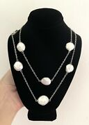 Honora Keshi Pearl Sterling Silver Station 36 Necklace