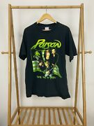 Vtg Poison Power To The People World Band Tour Single Stitch T-shirt Size L