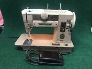 Vintage Singer 401a Slant O Matic Sewing Machine W/ Foot Pedal