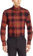 Vivienne Westwood Men's Krall Button Down Red Tartan Shirt With Piping Large Nwt