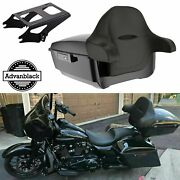 Advan Vivid Black King Tour Pack With Black Latch Fits 1997+ Harley Touring