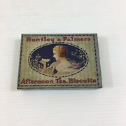Huntley And Palmers Sample Advertising Tin Afternoon Tea Biscuits 8cm In Width