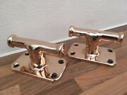 Vintage Ship Pair Of Classic Bronze Boat Cleats No Light Brass Boat Yacht Marine