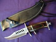 Frost Cutlery Bowie Fixed Blade Knife W/leather Sheathmade In Taiwannw/ot