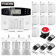 Home Security Alarm Systems Metal Remote Control Voice Prompt Wireless Door Sens