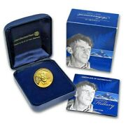 2008 New Zealand Edmund Hillary 1/4 Oz Gold Proof Coin Ltd Edn 1713 Of 1953