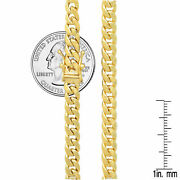 14k Yellow Gold Miami Cuban Link Chain Necklace 5.3mm Menand039s Women Sz 30