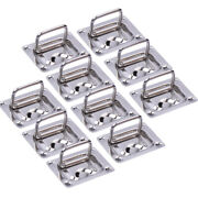 10x Stainless Steel Boat Spring Lift Pull Hatch Latch Handle Ring Flush Hinges