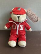 Starbucks China Red Bearista Bear Boy Student Jacket And Cap Chinese Words -x Card