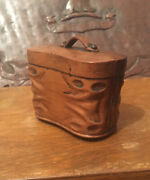 A Rare 19th Century Carved Wooden Novelty Snuff Box - Binocular Case Shaped