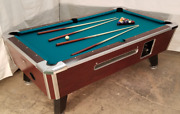 6 1/2and039 Valley Commercial Coin-op Pool Table Model Zd-8 New Green Cloth