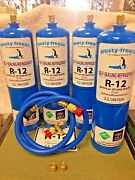 R12 Refrigerant R-12, 4 28 Oz. Cans, With Leak Stop, Proseal Xl4, 1 To 5 Hp