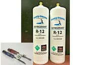 R12 Refrigerant 12 R-12 2 28 Oz. Cans Self-sealing Cans Kit D