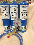 R12, Refrigerant 12, R-12, 3 Cans Check And Charge It Gauge, 36 Hose Kit C