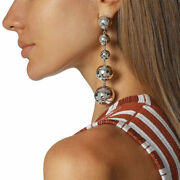 Ippolita Classico Long Graduated Hammered Ball Drop Earrings In Sterling Silver