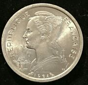 1964 Francaise French France 1 Franc Coin -uncirculated.