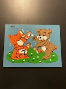 Vintage Sifo Playful Teddy Bear Wooden Puzzle