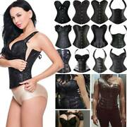 Lady Gothic Corset Tops Bustiers Jacquard Party Cosplay Lingeries Lace Up Vest