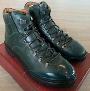 1200 Bally Charls 29 Green Leather Hiker Boots Size Us 11 Made In Switzerland
