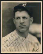 1930's Original Photo Signed By Charlie Grimm To Chuck Klein - Chicago Cubs