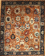 Hand-knotted Rug Carpet 8and0392x9and0398 Mahal Mint Condition